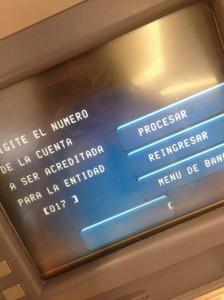 Transferir dinero de una cuenta bancaria a otra a través del cajero automático - paso5