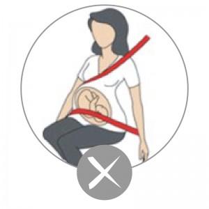 Embarazada cinturón fail