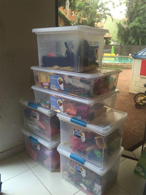 Así lucen los contenedores para organizar juguetes.