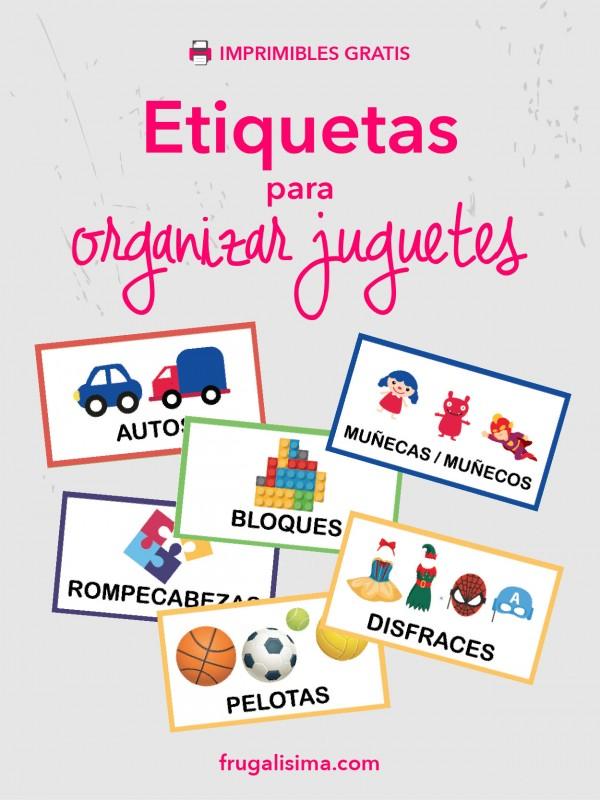 etiquetas para organizar juguetes