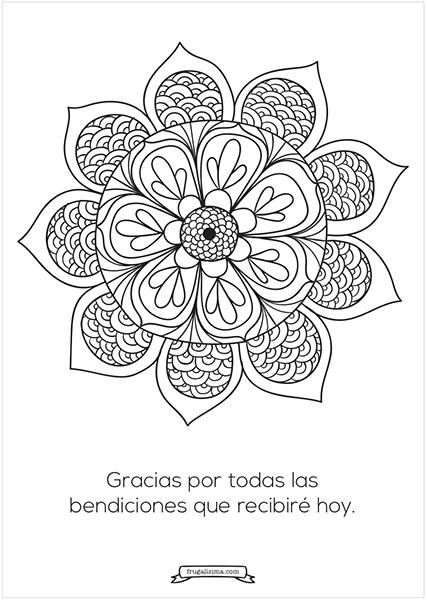 11 Mandalas para pintar con afirmaciones poderosas (imprimibles gratis!)