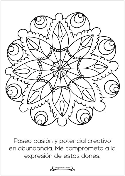 creatividad mandalas para pintar frugalisima