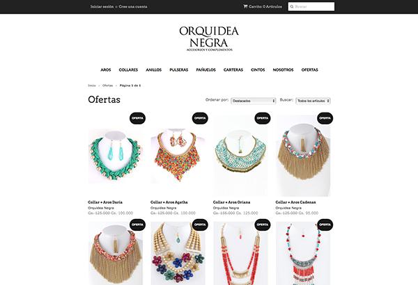orquidea negra tienda online