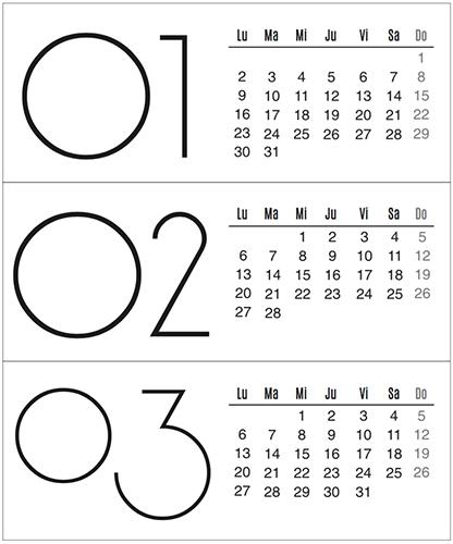 Calendario 2017: Seis Hermosos diseños para descargar gratis | Frugalisima