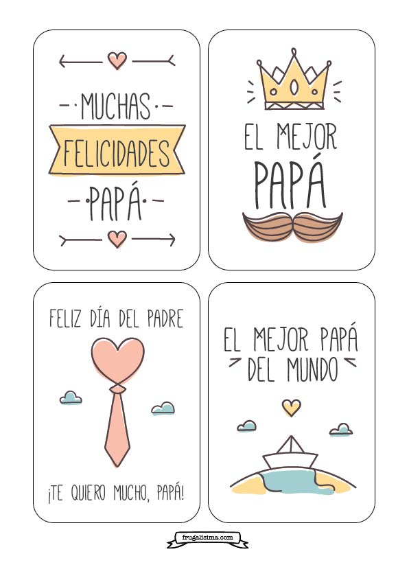 Tarjetas Dia del padre - imprimibles gratis - frugalisima